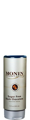 (Monin Gourmet SUGAR FREE Dark Chocolate Sauce, 12 oz Squeeze Bottle)