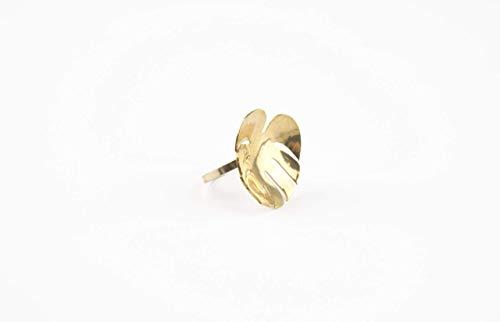 Lindsey Snell Floral Palm Leaf Statement Ring - Gold Polished Brass - Size 6