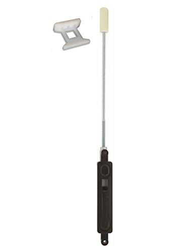Flushbolt for Adams Rite , Kawneer Commercial Storefront Door, Manual Flush Bolt Lever, Rod, & Guide in Duronotic