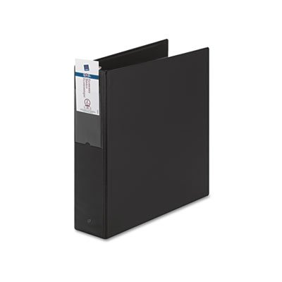 Economy Binder with Round Rings, 2'' Capacity, Black, Total 12 EA, Sold as 1 Carton