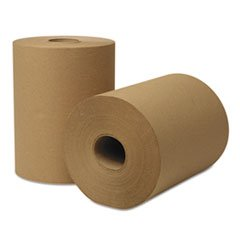 Hardwound Towel (Wausau Paper 46000 EcoSoft Hardwound Roll Towels, 425 ft x 8 in, Natural (Case of 12 Rolls))