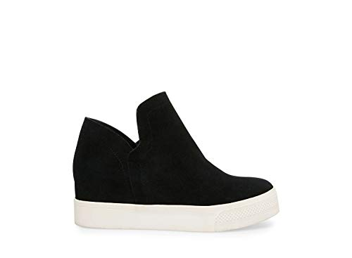 (Steve Madden Women's Wrangle Black Suede Athletic 6 US)