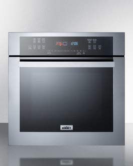 Summit SEW24SS 24 Inch Wide 2.7 Cu. Ft. Single Electric Oven with Steam Clean