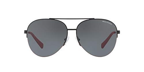 Armani Exchange Men's Metal Man Aviator Sunglasses, Matte Black, 60 mm