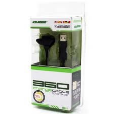KMD Xbox 360 Charge Cable Black Komodo