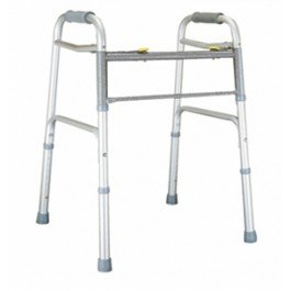 Lumex Imperial Collection Dual Release X-Wide Folding Walker, Case of 2 - BARIATRIC WALKER DUAL RELEASE X-WIDE WITH 5'' WHEELS - 604070W