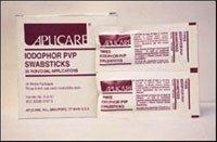 Aplicare, Inc (S-3101) Iodophor PVP Swabsticks 3's Triple 25/Bx (Swabsticks Pvp)