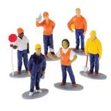 [US Toy Construction Worker Toy Figures (1 Dozen)] (Man Construction Worker Costume)