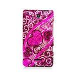 Eagle Cell PDLGVS840F384 RingBling Brilliant Diamond Case for LG Lucid 4G VS840 – Retail Packaging – Pink/Black Heart, Best Gadgets