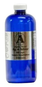 Angstrom Mineral Ionic Liquid Silver - 300mg/L - 32 oz. Better than colloidal!