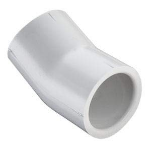 Spears 416 Series PVC Pipe Fitting 1, 3//4 Schedule 40 22.2 Degree Elbow