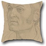 [Cushion Covers Of Oil Painting Friedrich Overbeck (German - Head Of A Man,for Seat,home Office,gf,home,valentine,dance Room 20 X 20 Inches / 50 By 50 Cm(each] (Six Million Dollar Man Costume)