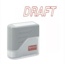 Sparco Products Products - DRAFT Title Stamp, 1-3/4