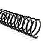 Plastic Coil - 22mm Black - 190 Sheet Capacity - 100/box