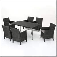 Christopher Knight Home Darmel | 7 Piece Outdoor Wicker Rectangular Dining Set
