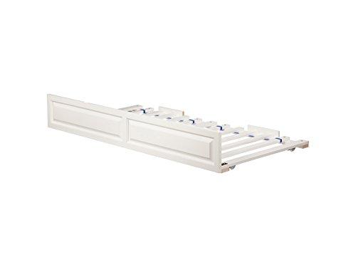 Atlantic Furniture E-67202 Raised Panel Trundle Bed, Twin/Full, White