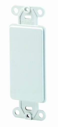 Leviton 80414-W Decora QuickPort Multimedia Blank Insert, 1 Gang, Smooth, 1-Pack, -