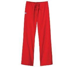 White Swan Flare Leg Pant (Fundamentals by White Swan Women's Drawstring Flare Leg Scrub Pants XXXXX-Large Red)