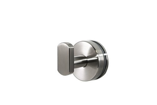 Preferred Bath Accessories 2000-BN-GM ANELLO Collection Robe Hook Glass Mounted, Brushed Nickel by Preferred Bath Accessories