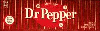 Dr Pepper Made with Real Sugar 12 Oz Cans 12 Pack by Dr. Pepper