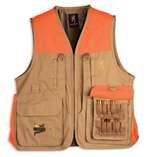 Browning Pheasants Forever Vest, Khaki/Blaze, XX-Large