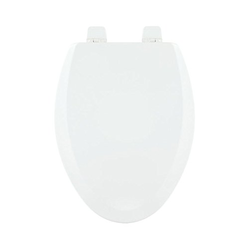 Centoco 900-001 Wood Elongated Toilet Seat with Closed Front, White