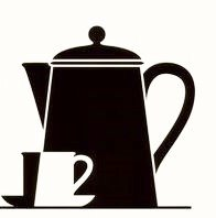 uksellingsuppliers ® Pack of 6 black gloss tile transfer stickers decal kitchen coffee pot and cup vinyl 8cm x 8cm…