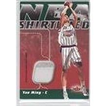 Yao Ming #77/99 (Basketball Card) 2003-04 Fleer Focus - NBA Shirtified - Jersey Numbers #NSN-YM