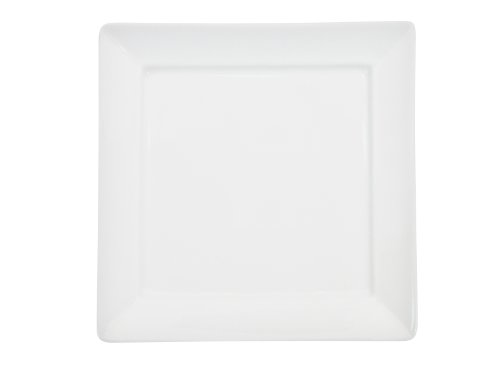 CAC China F-SQ6 Paris-French Square 6-Inch New Bone White Porcelain Thin Square Plate, Box of 36 by CAC China