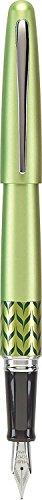 (Pilot MR Retro Pop Collection Fountain Pen, Green Barrel with Marble Accent, Medium Nib, Black Ink (91441))