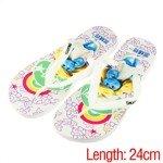 The Smurfs Summer Flipflops Slippers Sandals(White/38 Size)