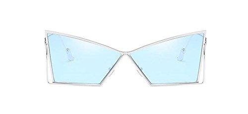 Rond de Pour et en Cercle Retro Lunettes Soleil Film Hommes Métallique Bleu Steampunk Polarisées Inspirées Style Femmes du PwWq1d4