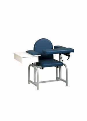 Pro Advantage P271016 Blood Draw Chair, Flip-Arm & Drawer, Upholstered