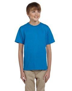 (Gildan boys Ultra Cotton T-Shirt(G200B)-SAPPHIRE-S)