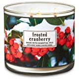 Bath and Body Works 3 Wick Scented Candle Frosted Cranberry 14.5 ()
