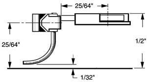 HO Multi-Purpose Coupler, 25/64 Overset (2pr) by Kadee Qualtiy Products, CO.