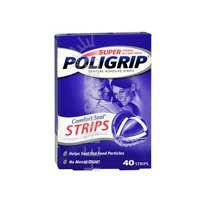 Super Poligrip Strips Size 40 Ct Poligrip Strong All Day Comfort Seal Denture Adhesive (Denture Adhesive Strips)