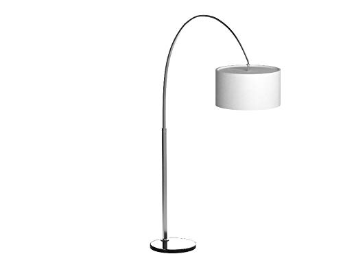 Kenroy Home Modern Arc Floor Lamp ,82 Inch Height, 64 Inch Width, 18 Inch Ext with Brushed Steel Finish
