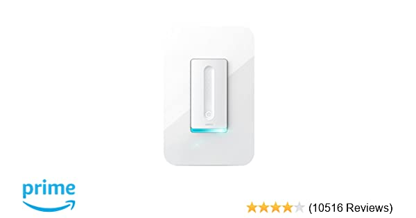 Wemo Dimmer Wi-Fi Light Switch, Works with Alexa and Google Assistant