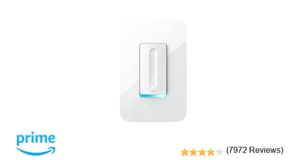 Wemo Dimmer Wi-Fi Light Switch, Works with Amazon Alexa and Google Assistant
