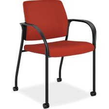 HON Ignition Upholstered Back Chair with Fixed Arms - Multi-Purpose Stacking Chair, Poppy (HIGS6)