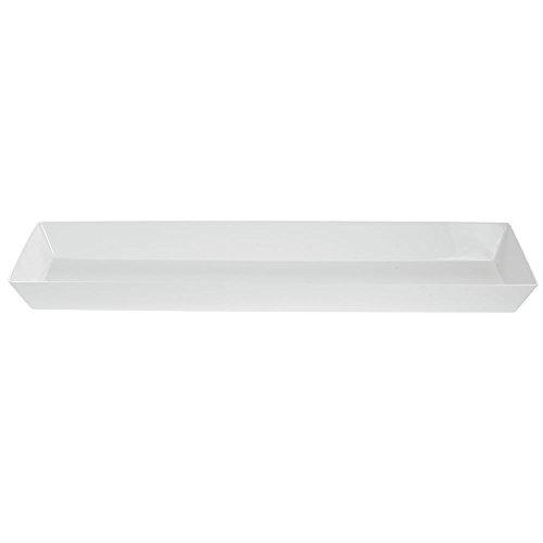 Aegina ABS Plastic Platter, White, 24 x 8 x 1.25 from Delfin Design