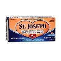 St Joseph Aspirin Tabs 81 Size 120ct St Joseph Aspirin Tabs 120ct by St. Joseph