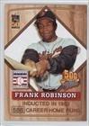 Frank Robinson (Baseball Card) 2001 Topps Post 500 Home Run Club - Food Issue [Base] #5