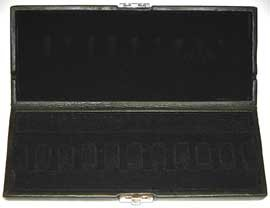 10-Reed Bassoon Reed Case Black Leather
