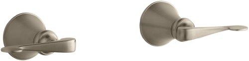 KOHLER K-16217-4-BV Revival Two-Handle Wall-Mount Bath Valve with Scroll Lever Handles, Vibrant Brushed ()