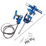(450 CNC Helicopter Upgrade Metal Head and Tail Set-Blue )