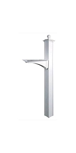 Balmoral Deluxe Post And Bracket With Finial In White