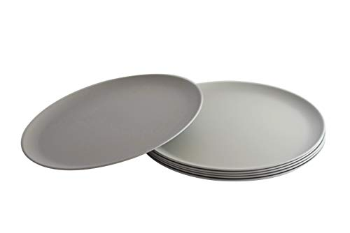 Natura Green- Bamboo Plates- Set of 6-10 inches (Gray)