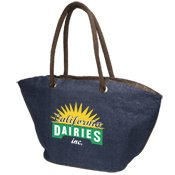 Zip Jute Tote 50 QUANTITY- $7.35 EACH/PROMOTIONAL PRODUCT / BULK / BRANDED with YOUR LOGO / CUSTOMIZED